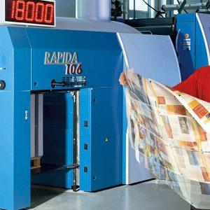 Velocità di stampa di 18000 fogli / ora della Rapida 106
