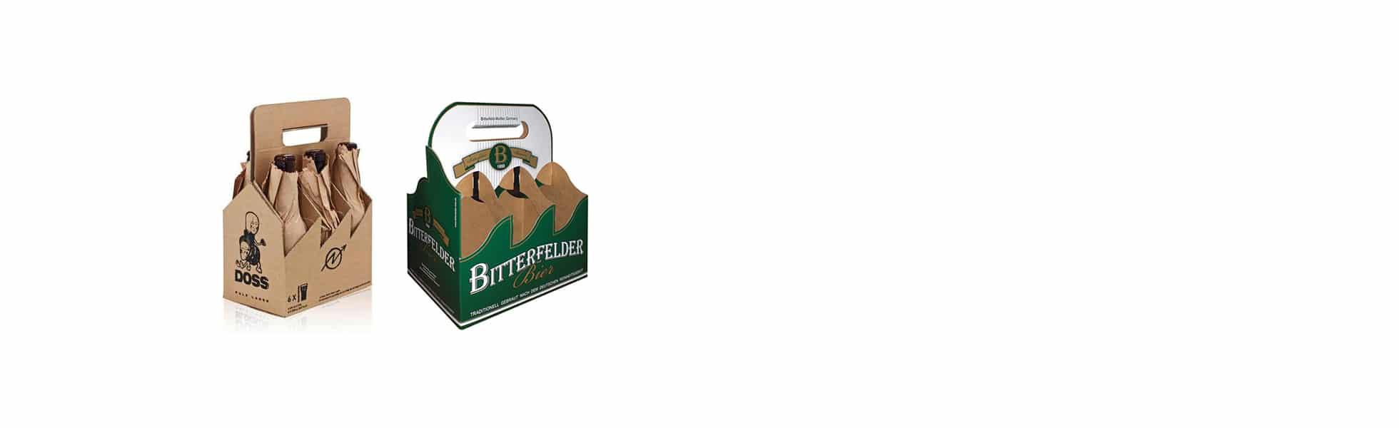 Confezione porta bottiglie in cartoncino