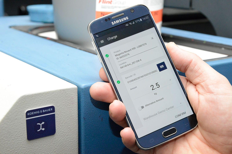 ProductionApp - visualizzazione su smartphone