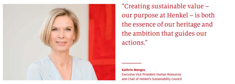Investire nella sostenibilità ambientale. Kathrin Menges - Henkel