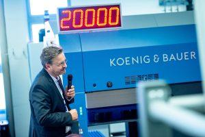 Koenig & Bauer 4.0 – Packaging & Connected Services - Velocità massima record di 20.000 fogli/ora