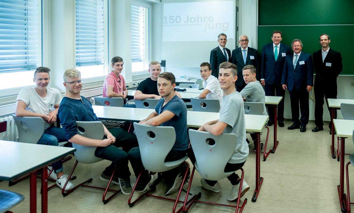 Una classe della scuola professionale aziendale di Koenig & Bauer