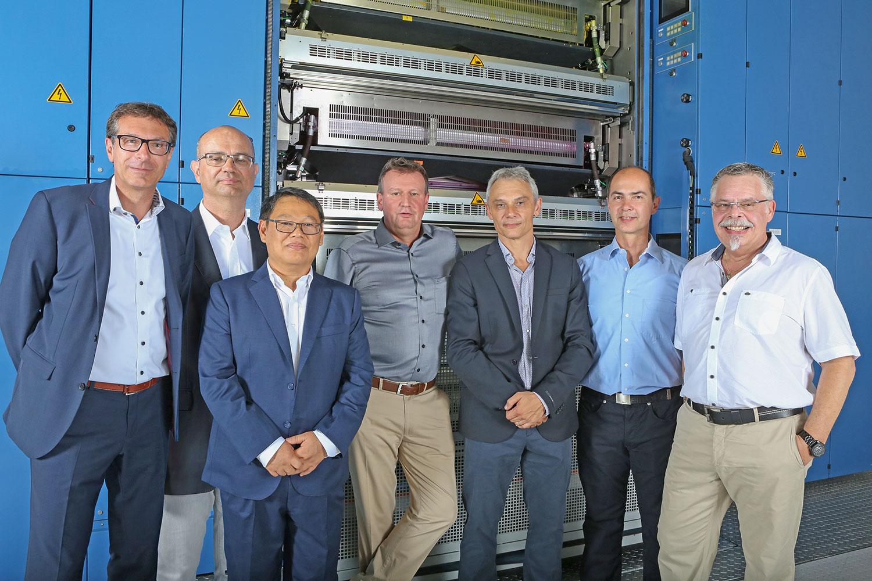 Macchina da stampa Cortina - management Koenig & Bauer e ICP Roto