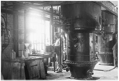 Foto d'epoca di uno stabilimento Henkel
