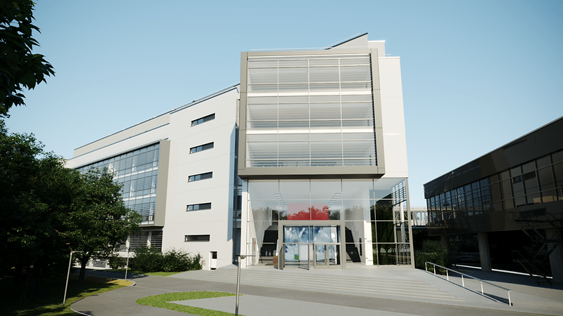 rendering dell'esterno del Global Innovation Center Adhesive Technologies