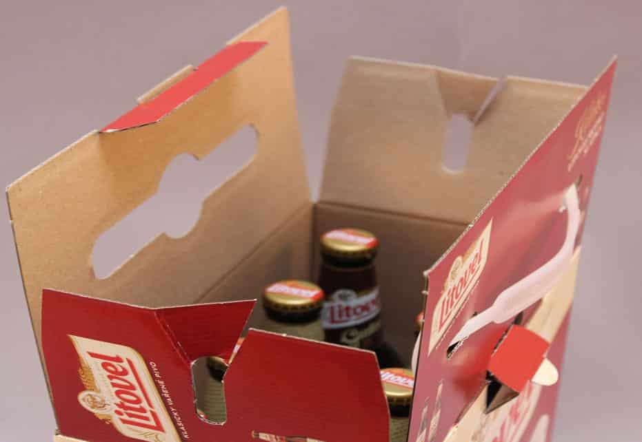 Multipack Smurfit Kappa per birra che facilita la logistica