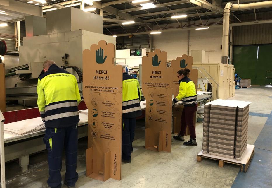 Divisori delle postazioni di lavoro in cartone ondulato