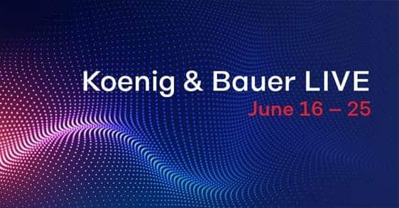 Koenig & Bauer LIVE in diretta a Giugno 2020
