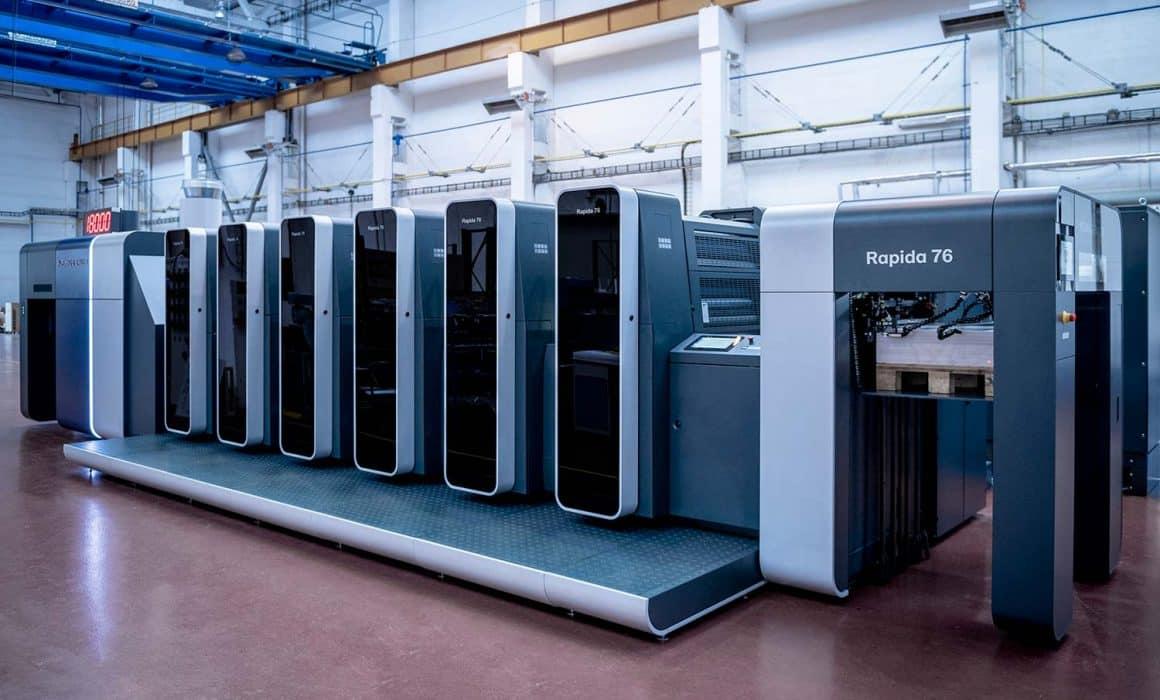 La nuova rapida 76 stampa ad una velocità di 18000 fogli a ora