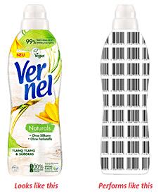 Filigrana digitale (digital watermark) sulla nuova confezione di un prodotto Vernel