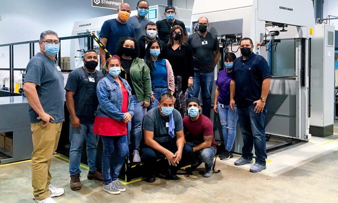 Il team dello stabilimento Rondo-Pak di San Juan, Portorico, sta registrando un aumento della produttività dopo l'installazione a settembre della sua nuova fustellatrice Koenig & Bauer-Iberica Optima 106