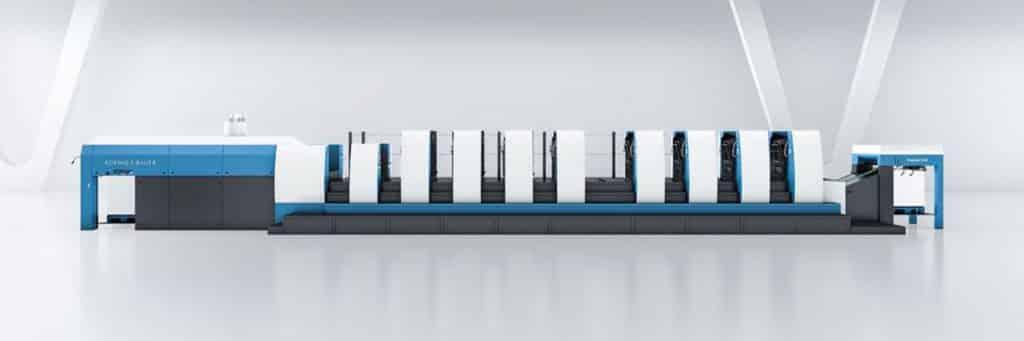 La Rapida 106 a otto colori con perfector e unità di verniciatura aggiuntiva ora gestisce la maggior parte dei lavori commerciali dell'azienda