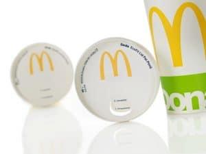 Coperchio in carta per bicchieri fast-food Eco Fit Lid del Gruppo Seda