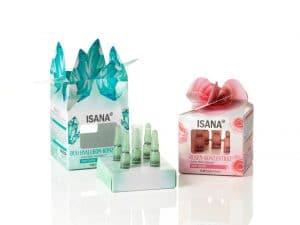 Packaging ISANA Cosmetics di Edelmann con cartoncino Stora Enso