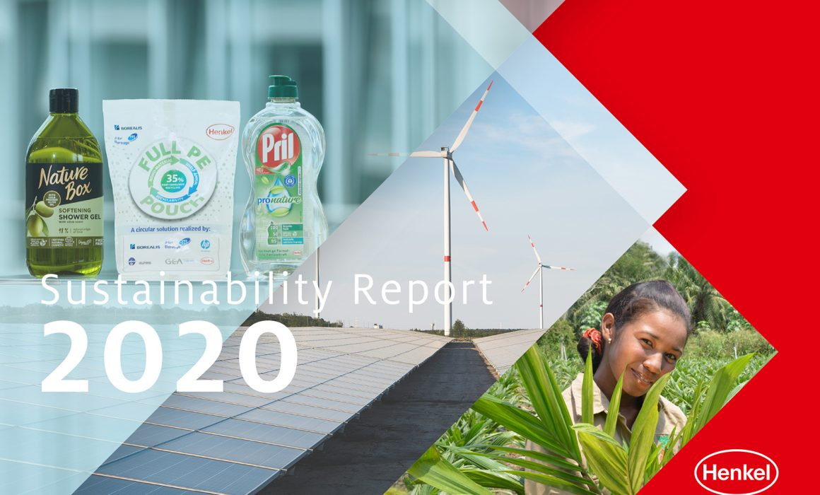 Copertina del Sustainability Report 2020 di Henkel