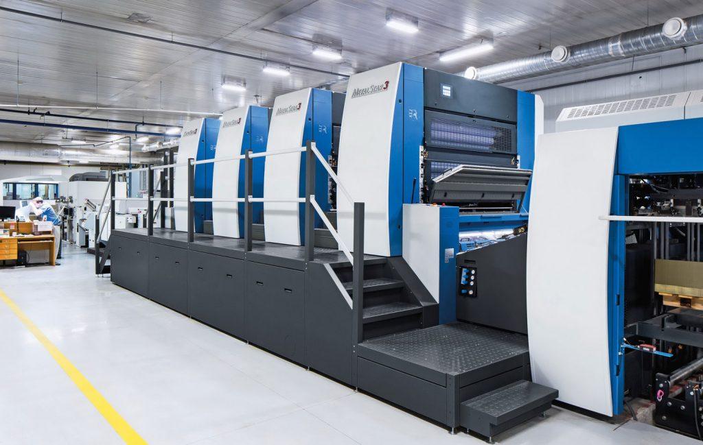 MetalStar3 di Koenig & Bauer. Macchina da stampa per gli imballaggi in metallo.