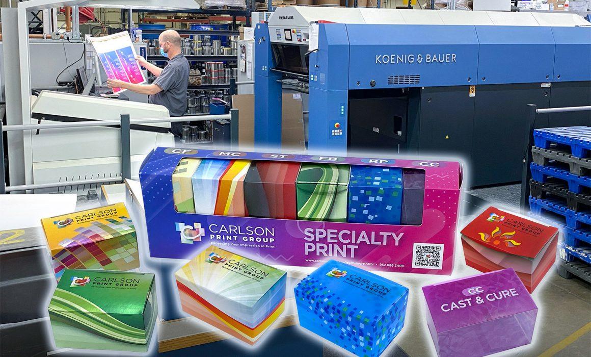 La nuova Rapida 105 PRO e lo Specialty Print Kit del gruppo Carlson