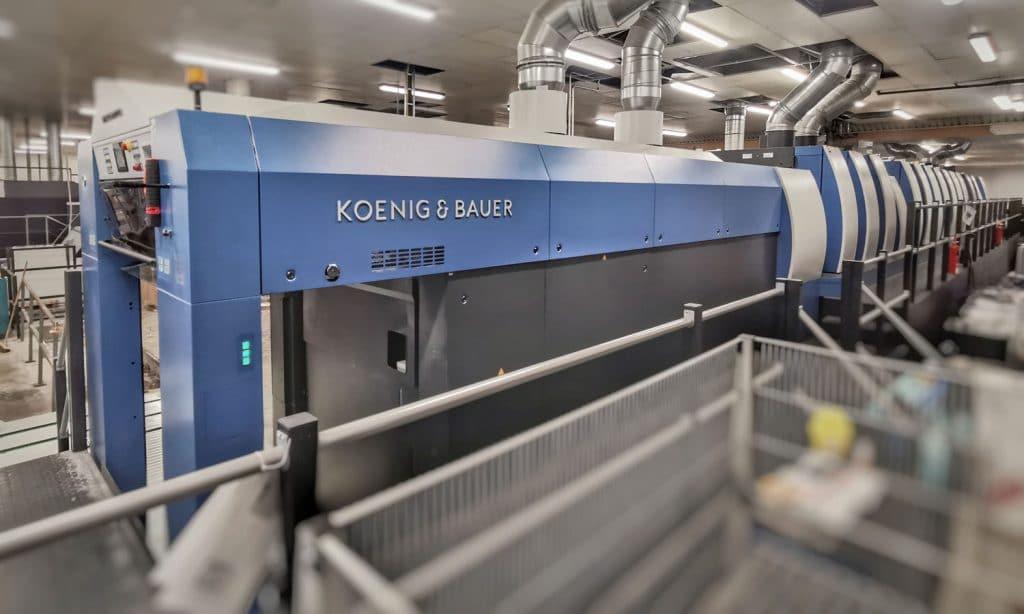 Con una lunghezza di 32 metri e con una completa automazione, la Rapida 106 stabilisce nuovi standard per la produzione di imballaggi