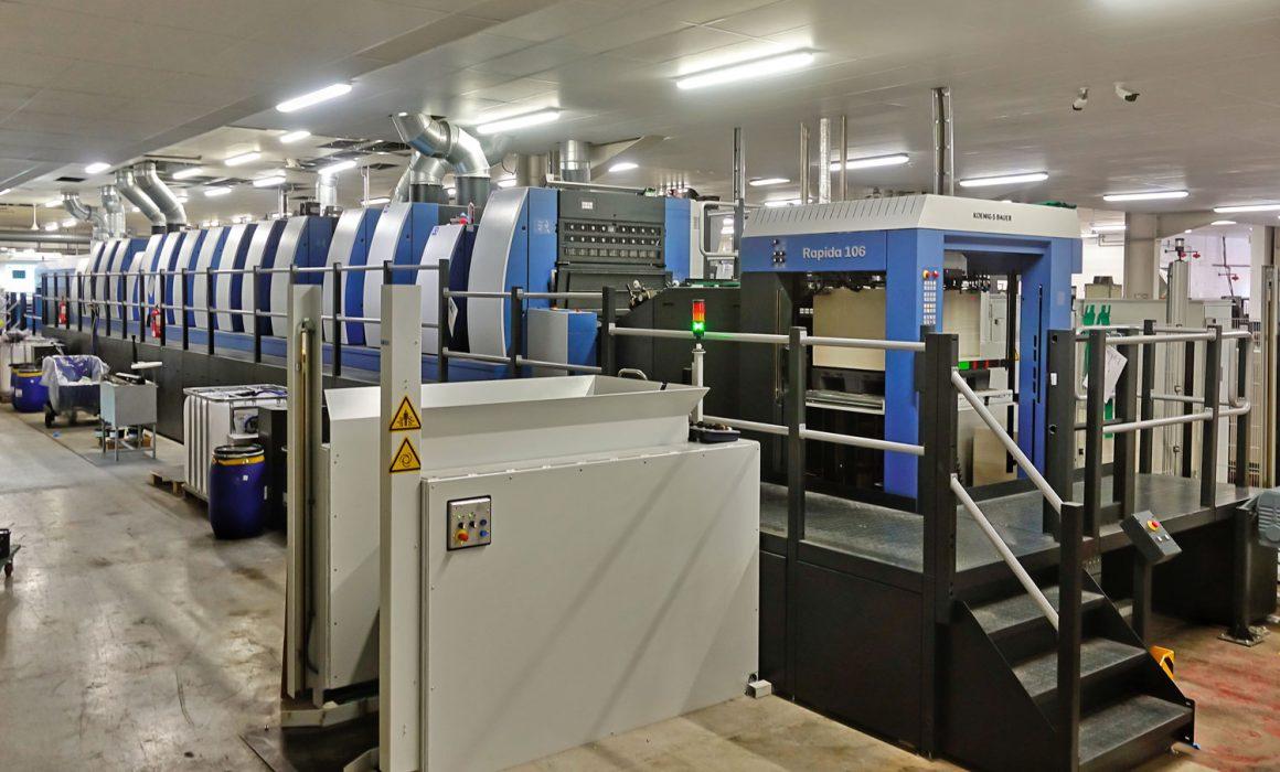 Sala stampa con la nuova Rapida 106 di Koenig & Bauer