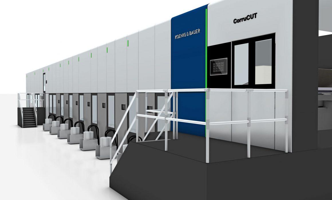 CorruCUT di Koenig & Bauer, macchina flexo per la lavorazione del cartone ondulato