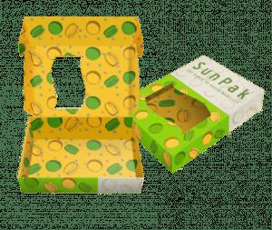 Scatola di Macaroon stampata internamente con inchiostro SunPak DirectFood Plus